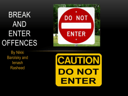 Break and Enter Offences powerpoint - legalstudies-HSC-aiss