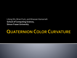 Quaternion Hessian - Computing Science