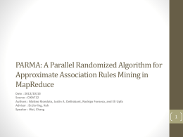 A Parallel Randomized Algorithm for Approximate Association Rules