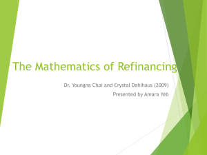 The Mathematics of Refinancing