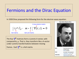 Lecture.8.Fermions and the Dirac Equation