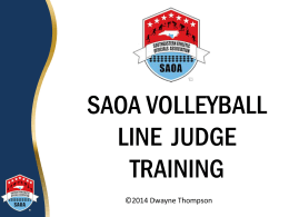 SAOA Line Judge Training PPT