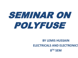 Seminar on Polyfuse