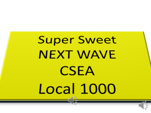 CSEA/AFSCME Local 1000 Presentation