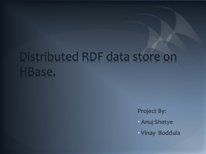 Distributed RDF data store on HBase.
