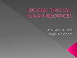 SUCCESS THROUGH HUMAN RESOURCES