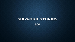 206 six-word stories