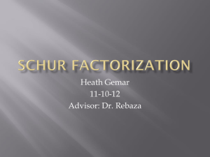 Schur Factorization - Missouri State University