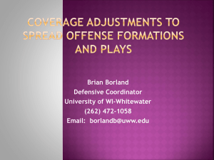 coverage adjustments to spread offense formations