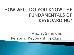 fundamentals of keyboarding