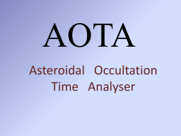 AOTA - Asteroid Occultation Updates