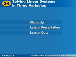 3-6 - Mr. Raine`s Algebra 2 Class