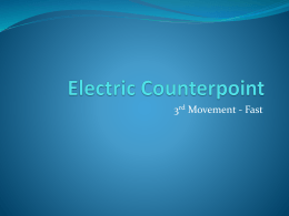 Electric Counterpoint - St Peters Music Department