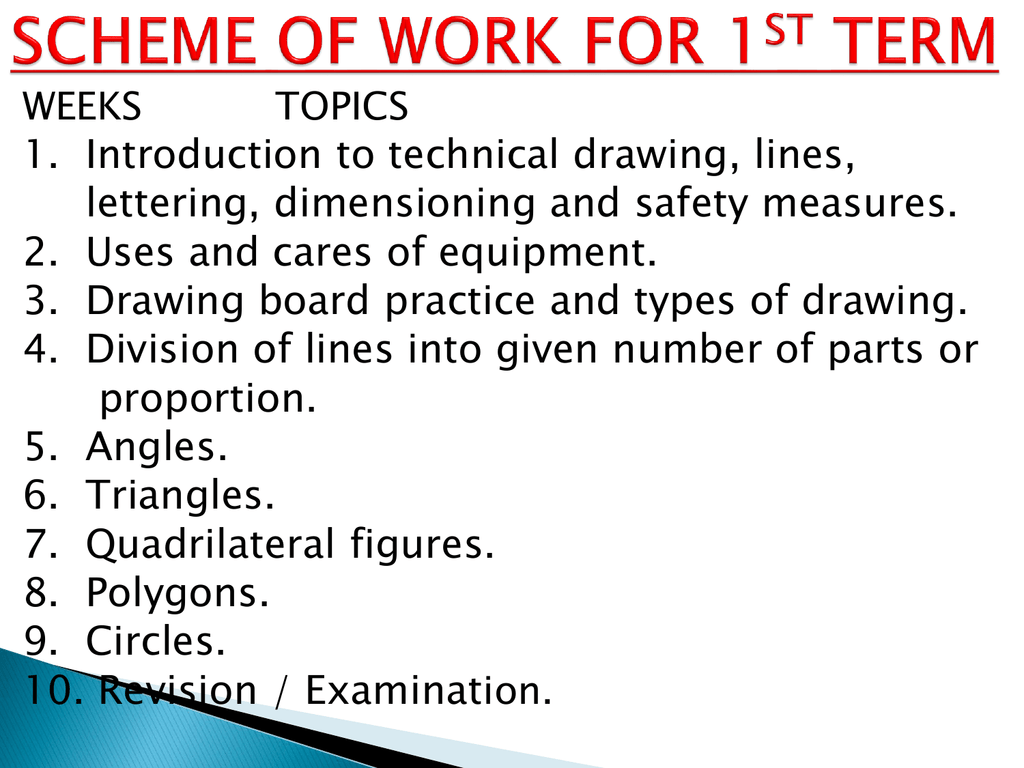 Introduction To Technical Drawing
