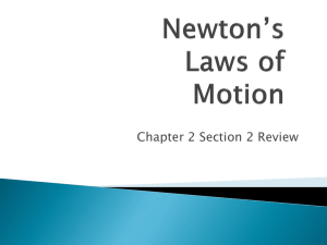 Chapter 2 Section 2 Newton`s Laws Slide Show