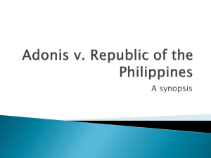 Adonis v. Republic of the Philippines