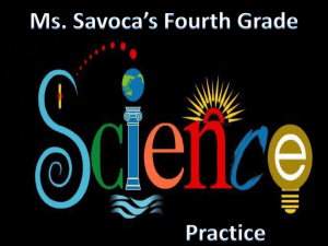Fourth Grade Science Practice