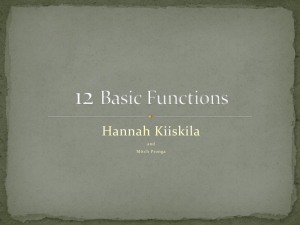 12 Basic Functions