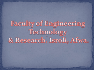 Surveying and leveling - Faculty of Engineering Technology