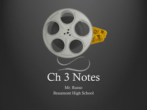 Chapter 3 Notes - Beaumont High School