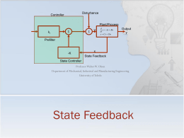 Lecture 13 - State Feedback