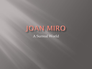 Joan Miro was a painter from Spain
