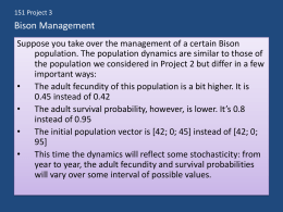 Bison Management - Mathematics for the Life Sciences