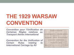 The 1929 Warsaw Convention