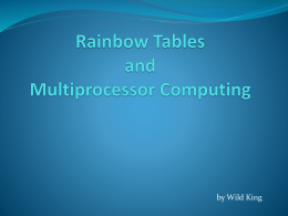 Rainbow Tables Presentation