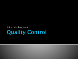 Quality Control - St. Norbert College Professional Home Pages