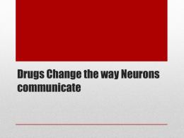 Drugs Change the way Neurons communicate