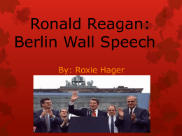 Ronald Reagan speech - AP English Language and Composition