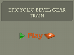 EPICYCLIC BEVEL GEAR TRAIN