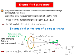 Electric field calculations
