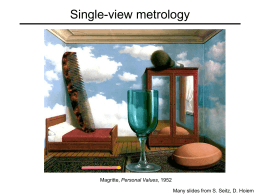 single-view metrology lecture
