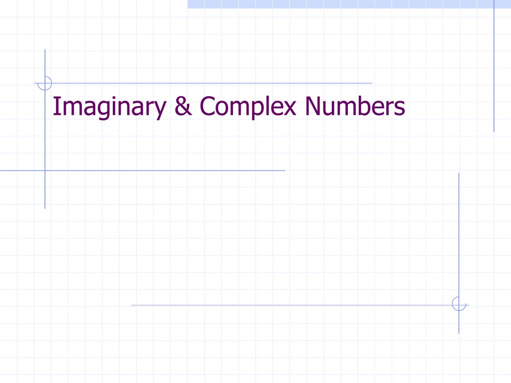 imaginary numbers - McEachern High School
