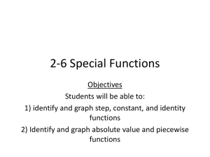 2-6 Special Functions - Lyndhurst School District