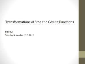 Transformations of Sine and Cosine Functions