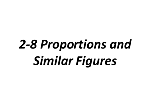 2-8 Proportions and Similar Figures