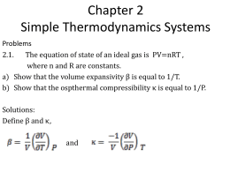 Chapter 2 Simple Thermodynamics Systems