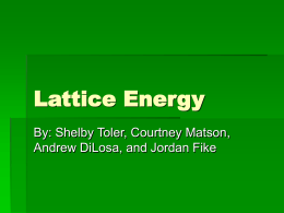 Lattice Energy - coolchemistrystuff