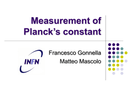 Measurement of Planck`s constant