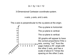 3d cartesian notes
