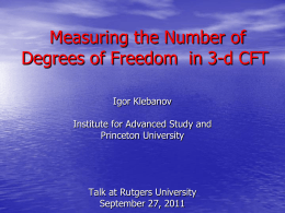 Slide 1 - Rutgers University