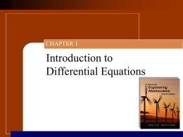 Ch01 Introduction to Differential Equations