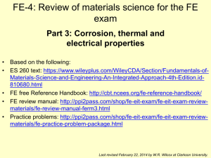 Materials Science 4 - Clarkson University