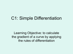 Simple differentiation