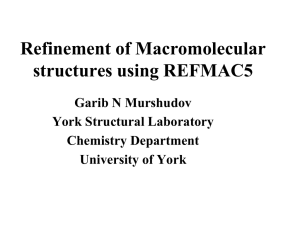 Refinement of Macromolecular Structures