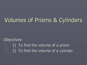 Volume of a Prism/Cylinder PowerPoint - 126 Math