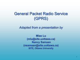 General Packet Radio Service (GPRS) Miao Lu (2705914
